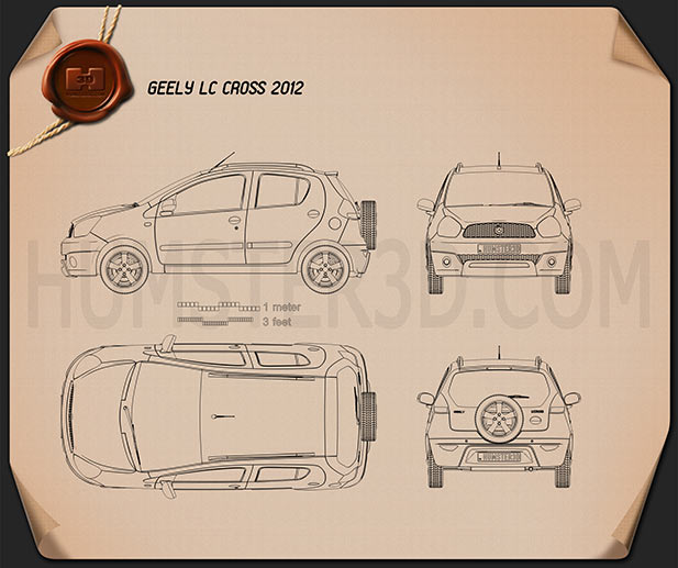 Geely LC Cross (Panda) 2012 Blueprint