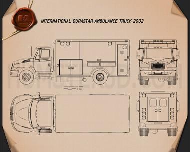 International Durastar Ambulance 2002 Blueprint