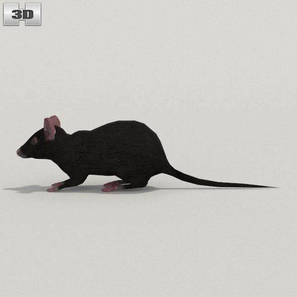 Mouse Black 3d model