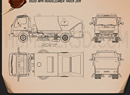 Isuzu NPR Road Cleaner 2011 Blueprint