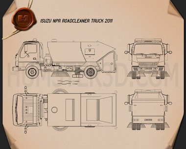 Isuzu NPR Road Cleaner 2011 Blueprint