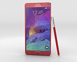 3D model of Samsung Galaxy Note 4 Velvet Red
