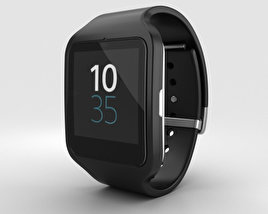 3D model of Sony SmartWatch 3 SWR50 Black
