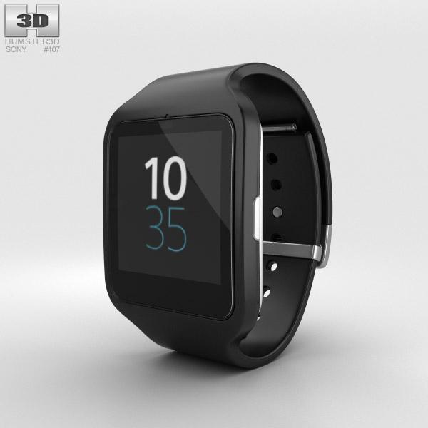 3D model of Sony SmartWatch 3 SWR50 Black