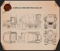 Caterpillar CT660 Mixer Truck 2011 Blueprint