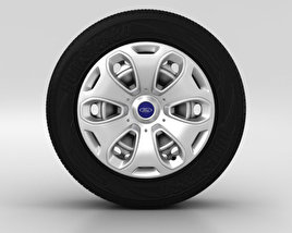 3D model of Ford Kuga Wheel 17 inch 001