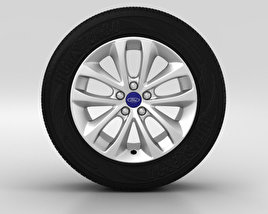 3D model of Ford Kuga Wheel 17 inch 002