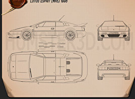 Lotus Esprit 1996 Blueprint