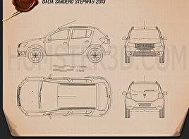Dacia Sandero Stepway 2013 Blueprint