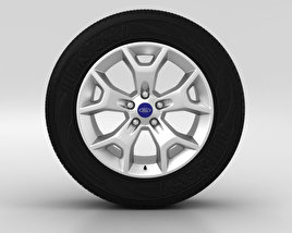 3D model of Ford Kuga Wheel 17 inch 003