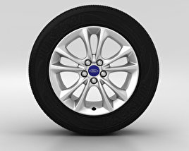 3D model of Ford Kuga Wheel 17 inch 004