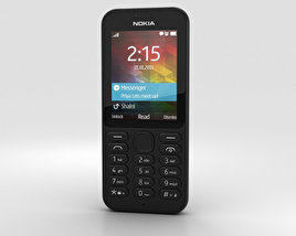 3D model of Nokia 215 Black