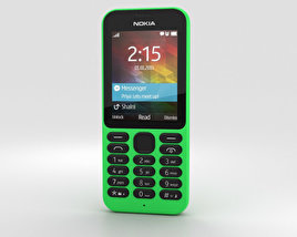 3D model of Nokia 215 Green
