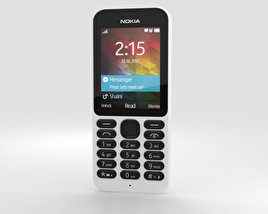 3D model of Nokia 215 White