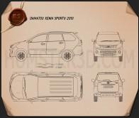 Daihatsu Xenia Sporty 2013 Blueprint