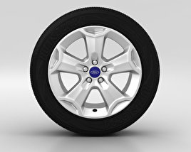 3D model of Ford Kuga Wheel 18 inch 001