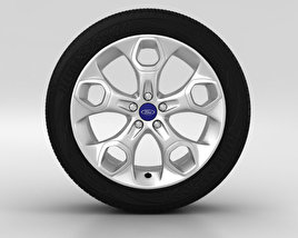 3D model of Ford Kuga Wheel 19 inch 001
