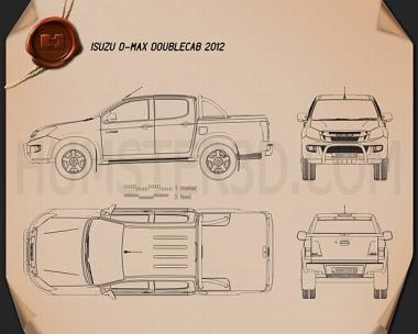Isuzu D-Max Double Cab 2012 Blueprint