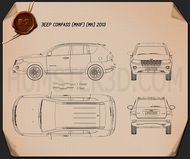 Jeep Compass 2013 Blueprint