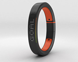3D model of Nike+ FuelBand SE Total Crimson