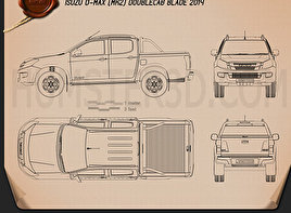 Isuzu D-Max Double Cab Blade 2014 Blueprint