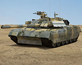 3D model of T-84U Oplot