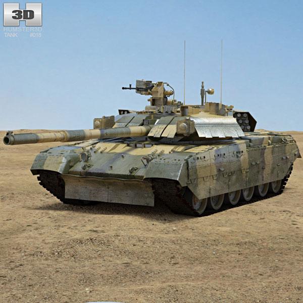 T-84U Oplot 3Dモデル