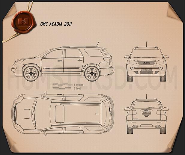 GMC Acadia 2011 Blueprint