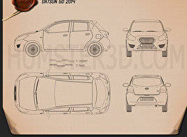 Datsun GO 2014 Blueprint
