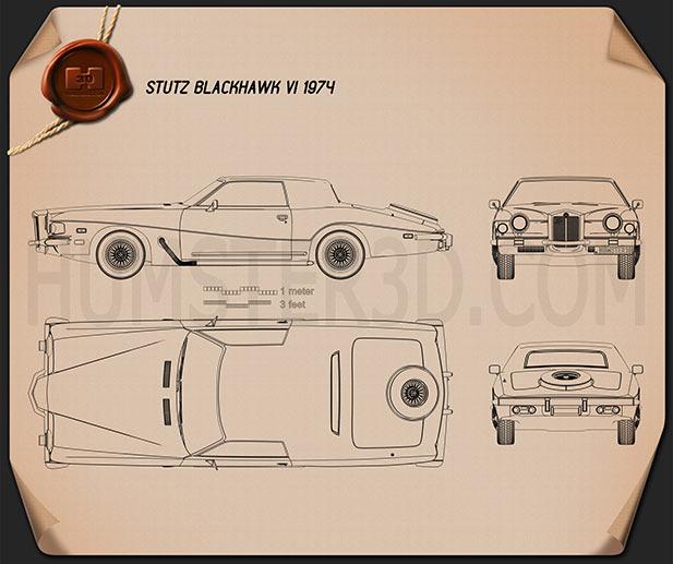 Stutz Blackhawk IV 1974 Blueprint