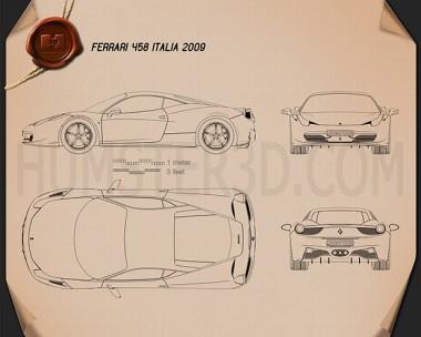 Ferrari 458 Italia Blueprint