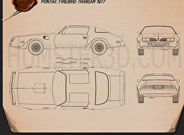 Pontiac Firebird Trans Am 1977 Blueprint