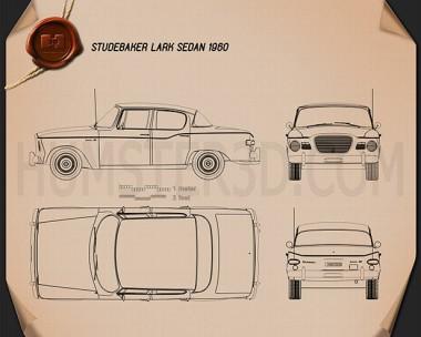 Studebaker Lark sedan 1960 Blueprint