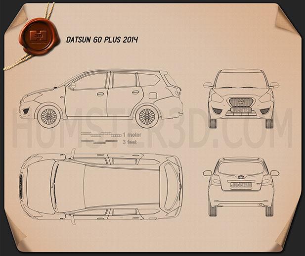 Datsun GO plus 2014 Blueprint