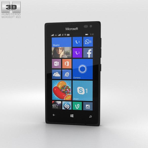 Microsoft Lumia 435 Black 3D model