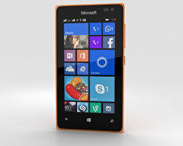 3D model of Microsoft Lumia 435 Orange