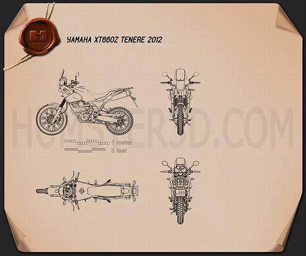 Yamaha XT660Z Tenere 2012 Blueprint
