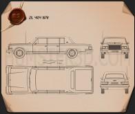 ZIL 4104 1978 Blueprint