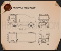 MAN TGS Rally Truck 2012 Blueprint