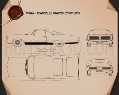 Pontiac Bonneville Hardtop 2-door 1966 Blueprint
