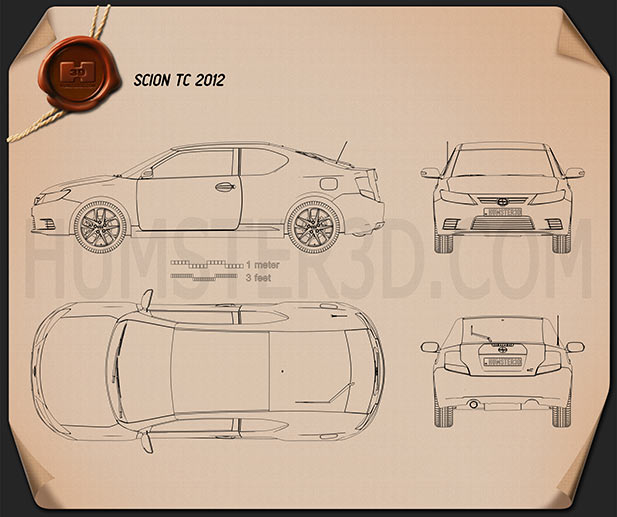 Scion tC 2012 Blueprint