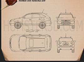 Hyundai ix55 Veracruz 2011 Blueprint
