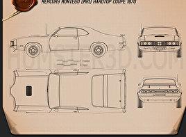 Mercury Montego Coupe 1970 Blueprint