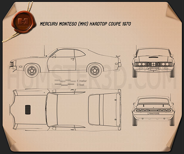 Mercury Montego Coupe 1970 Blueprint