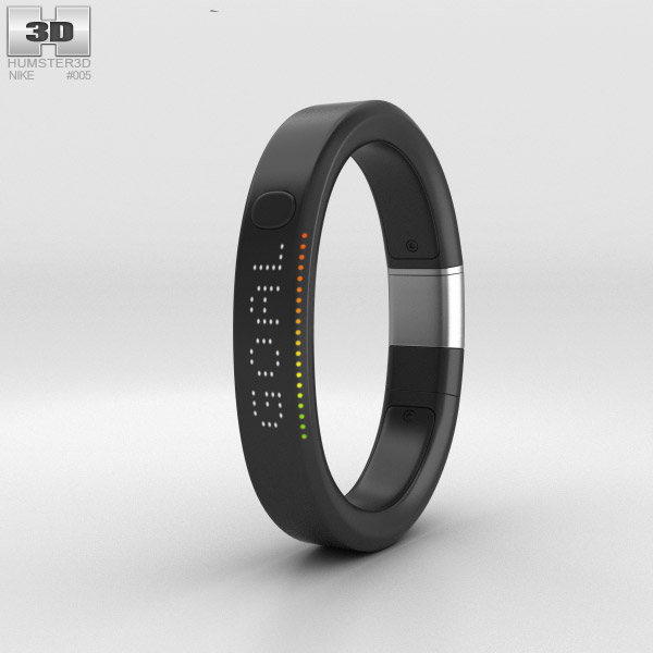 3D model of Nike+ FuelBand SE Metaluxe Limited Silver Edition