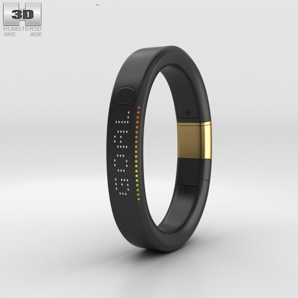 3D model of Nike+ FuelBand SE Metaluxe Limited Yellow Gold Edition
