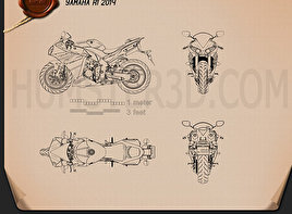 Yamaha R1 2014 Blueprint