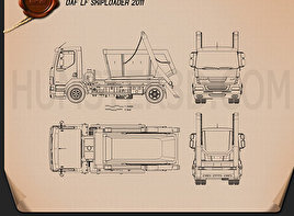 DAF LF Skip Loader 2011 Blueprint