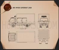 GMC W4500 Supershot 2009 Blueprint