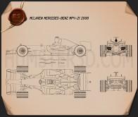 McLaren MP4-21 2006 Blueprint